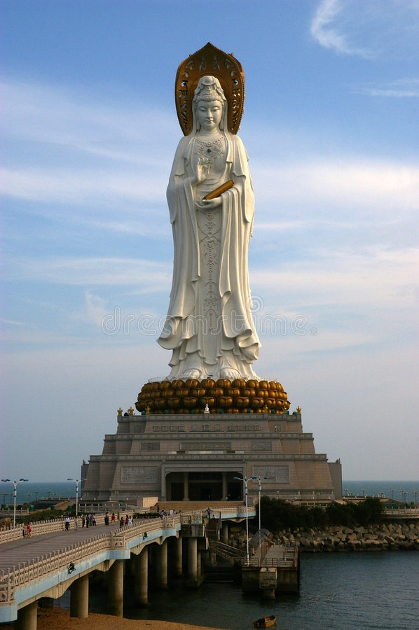La plus grande statue au monde image stock