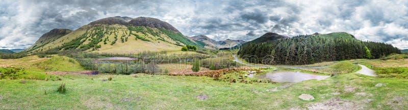 La plus haute montagne Ben Nevis d'UKs vu du sud-ouest photos libres de droits