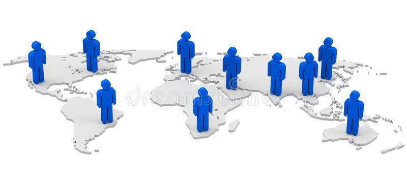 La población global stock de ilustración