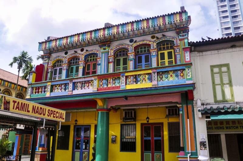 La poca India es un distrito ?tnico en Singapur fotos de archivo libres de regalías