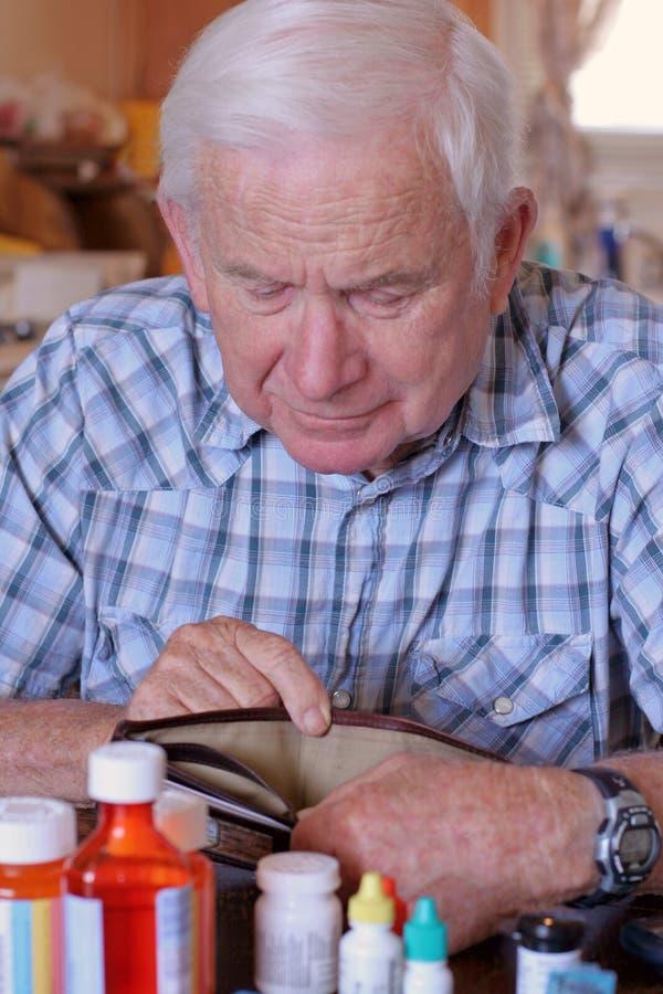 La pochette vide du grand-papa photographie stock libre de droits