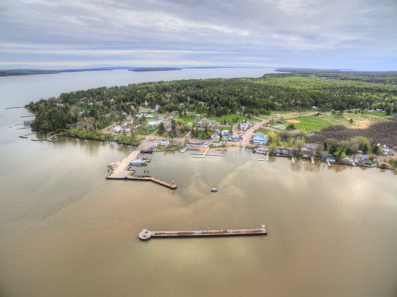 La Pointe på Madeline Island royaltyfria foton