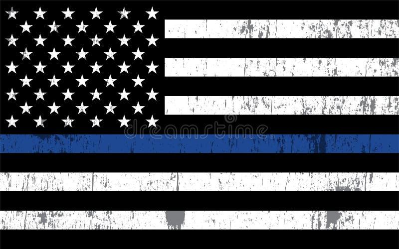 La policía apoya el ejemplo de la bandera libre illustration