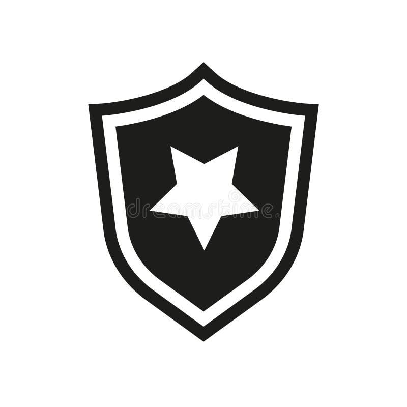 La policía badge el icono  stock de ilustración