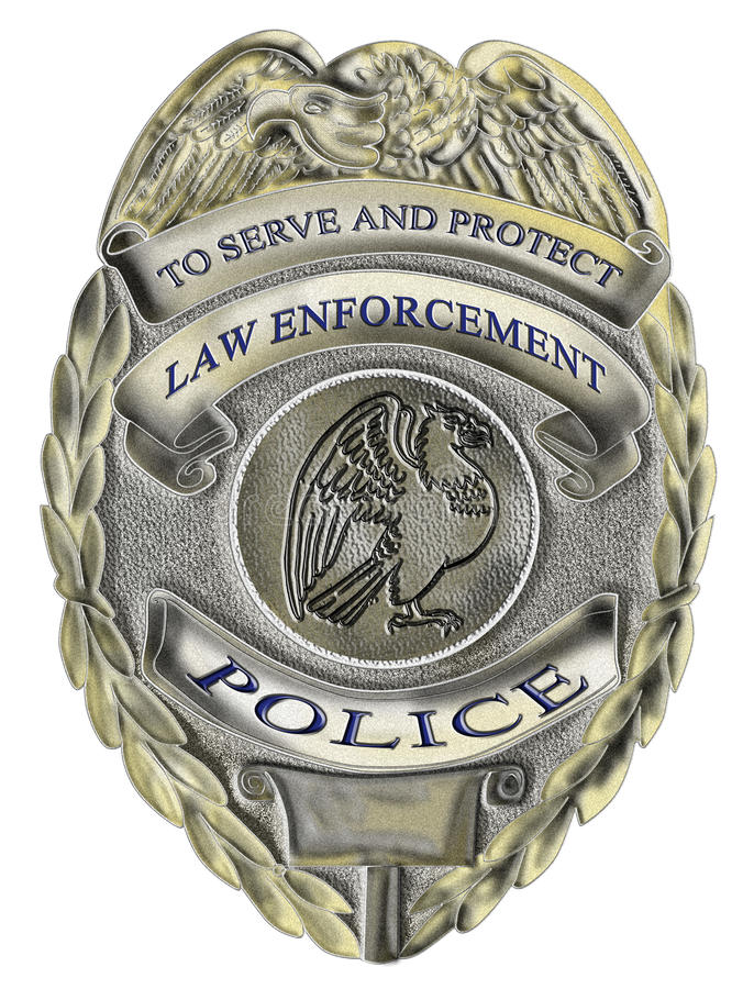 La policía de la aplicación de ley del sheriff badge ilustración del vector
