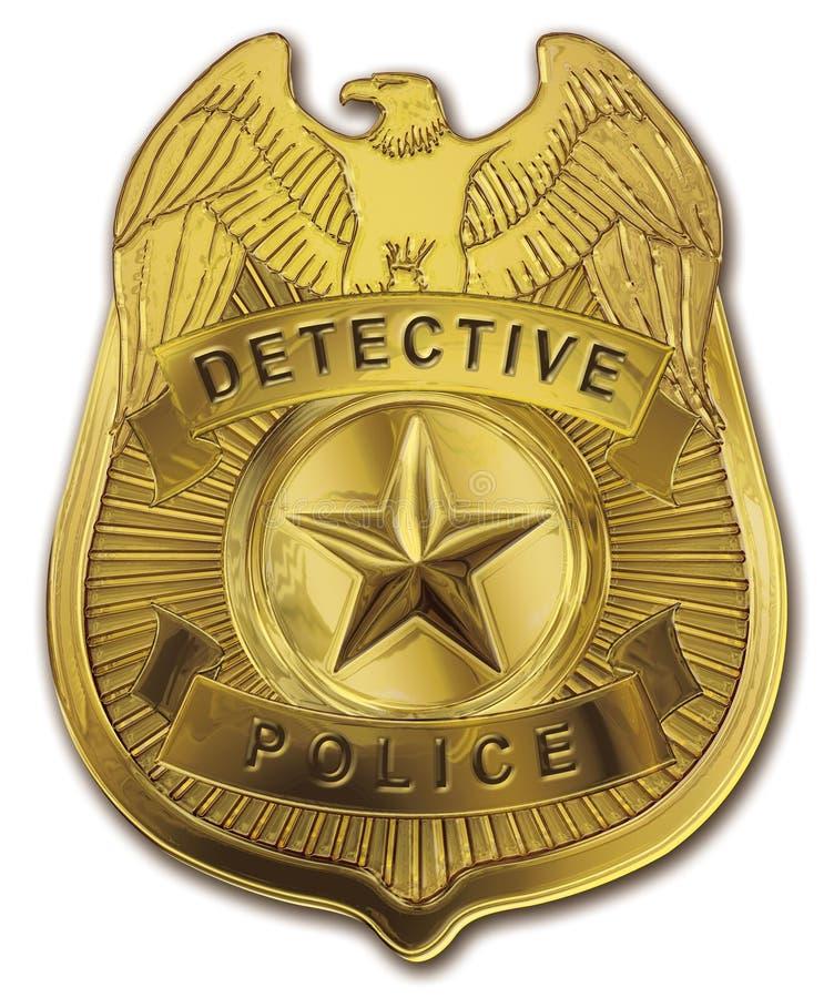 La policía detective Badge stock de ilustración