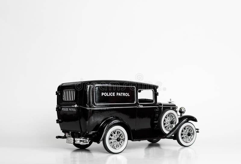 La policía negra patrulla el modelo fundido a troquel taxi fotografía de archivo libre de regalías