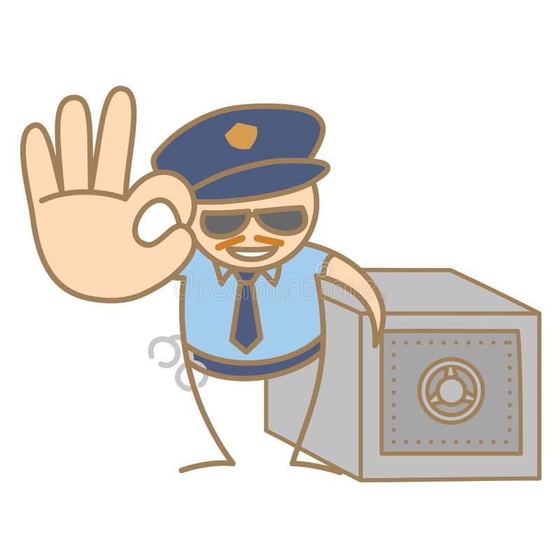 La policía sirve guardar el rectángulo de dinero ilustración del vector