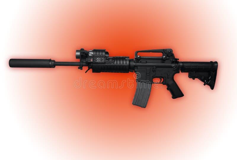 La police a émis le fusil d'assaut M16 images libres de droits