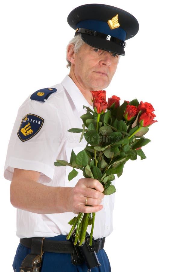 Download La Police équipe Avec Des Roses Image éditorial - Image du rouge, romantique: 8660325