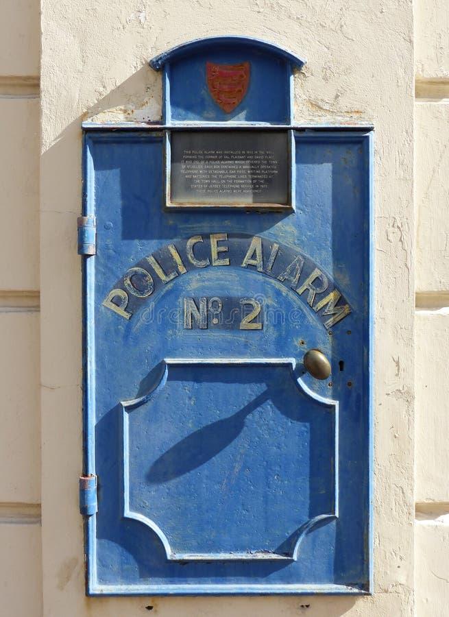 La police alarme à partir de 1901, St Helier photographie stock