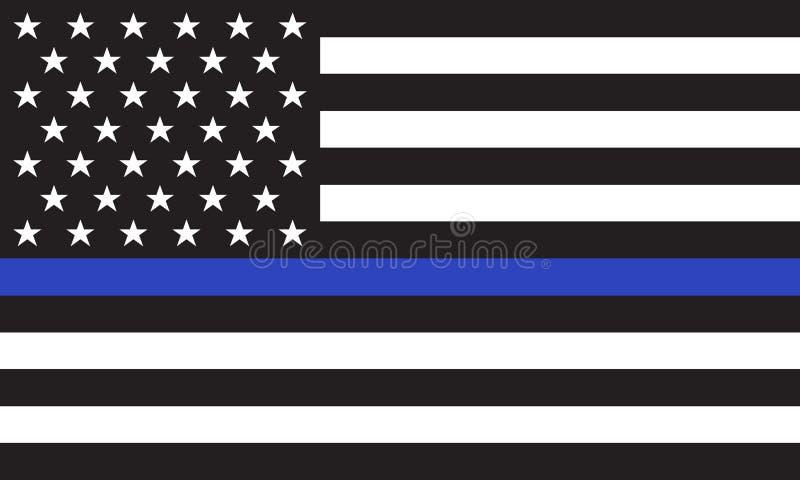 La police américaine de vecteur diminue illustration libre de droits