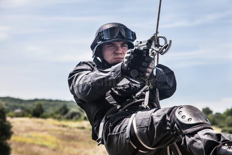 La police assaille l'opération image libre de droits