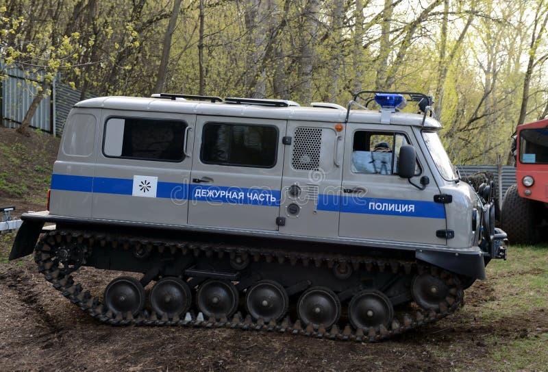 La police a dépisté tout le véhicule 1994-SDCH opérationnel de terrain photographie stock