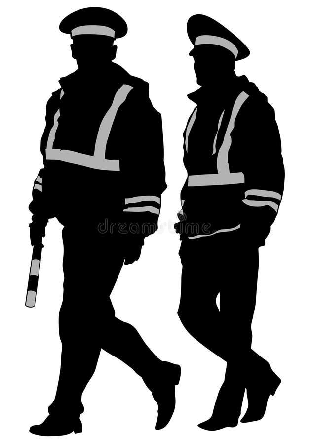 La police de la circulation deux illustration libre de droits