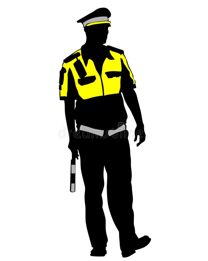 La police de la circulation deux illustration de vecteur