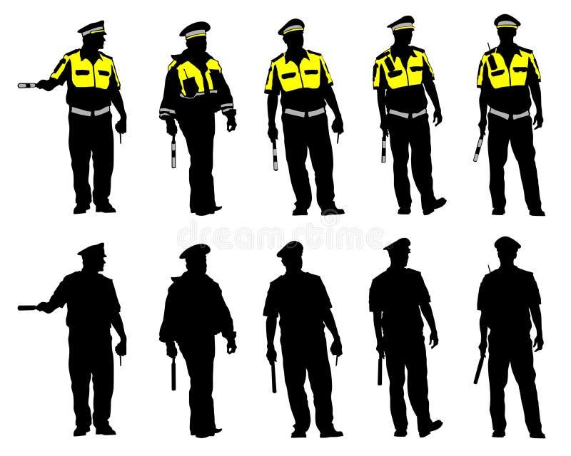 La police de la circulation six illustration stock
