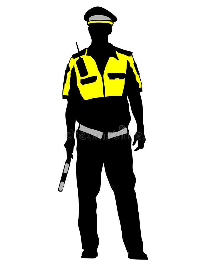 La police de la circulation trois illustration stock