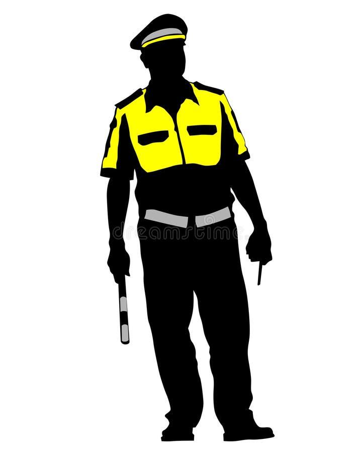 La police de la circulation une illustration stock