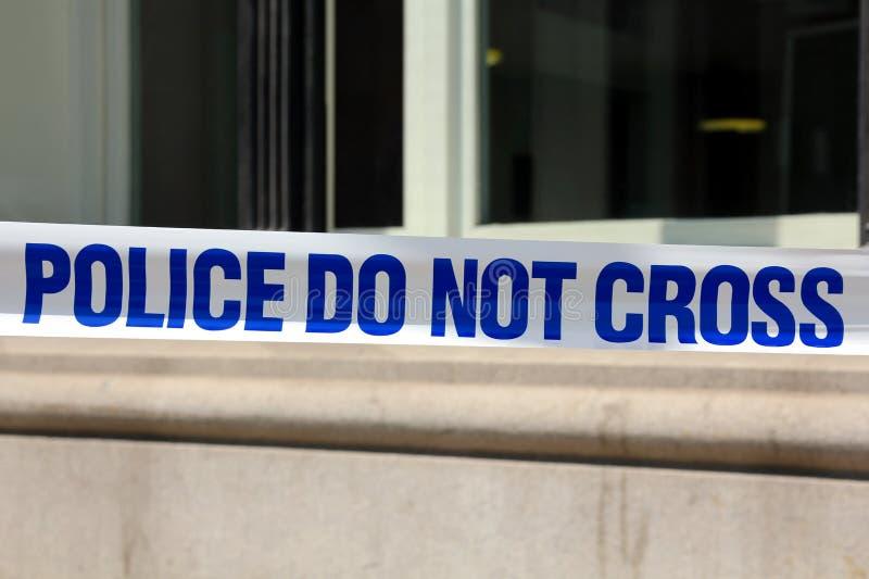 LA POLICE NE CROISE PAS photo libre de droits