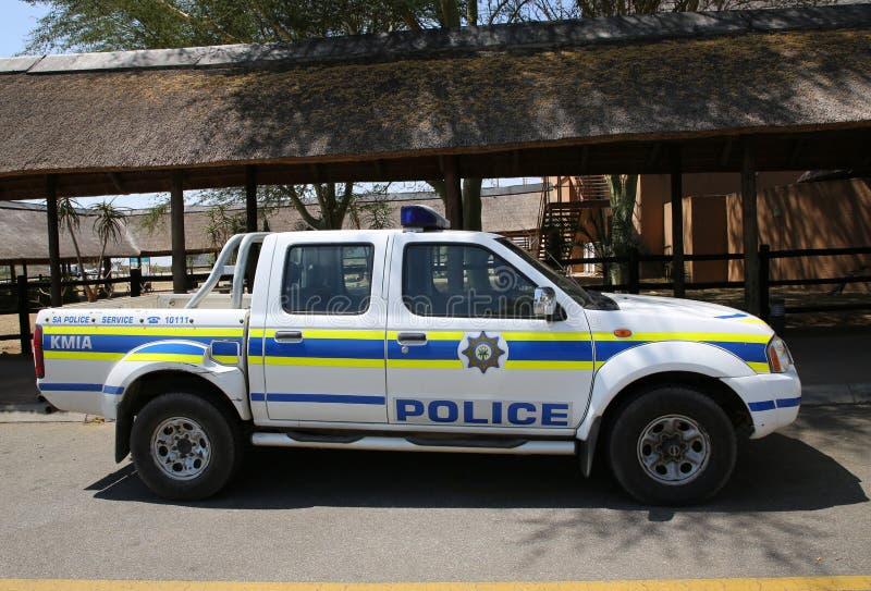 La police sud-africaine fournit la s?curit? en a?roport international de Kruger Mpumalanga, Afrique du Sud photo libre de droits