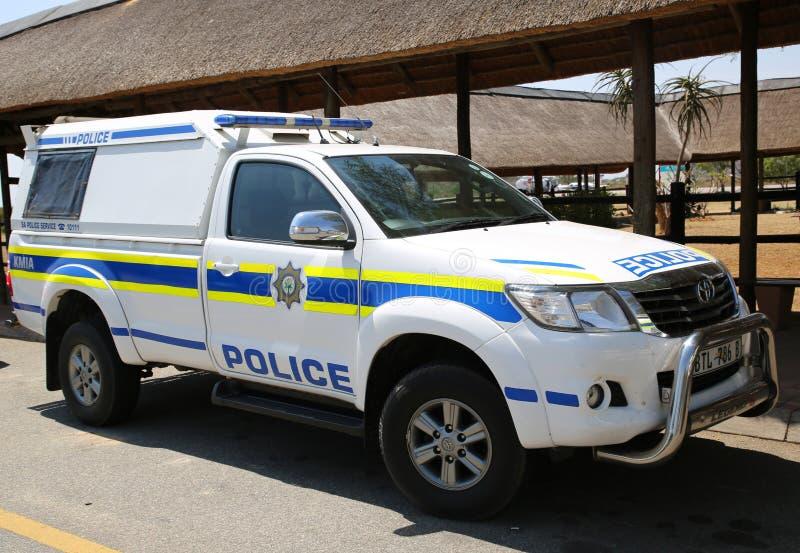 La police sud-africaine fournit la s?curit? en a?roport international de Kruger Mpumalanga, Afrique du Sud image libre de droits