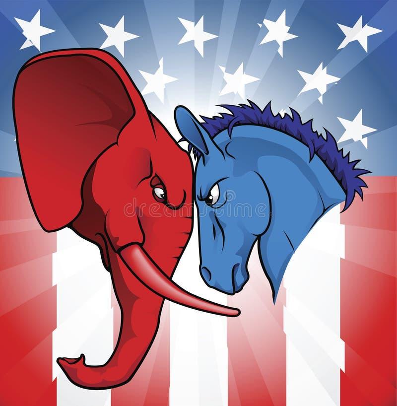 La politique américaine illustration de vecteur