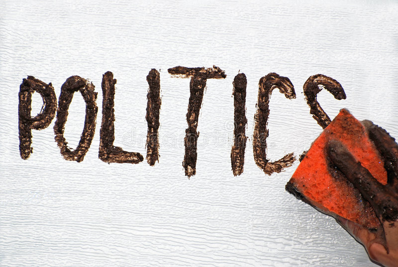La politique boueuse photographie stock