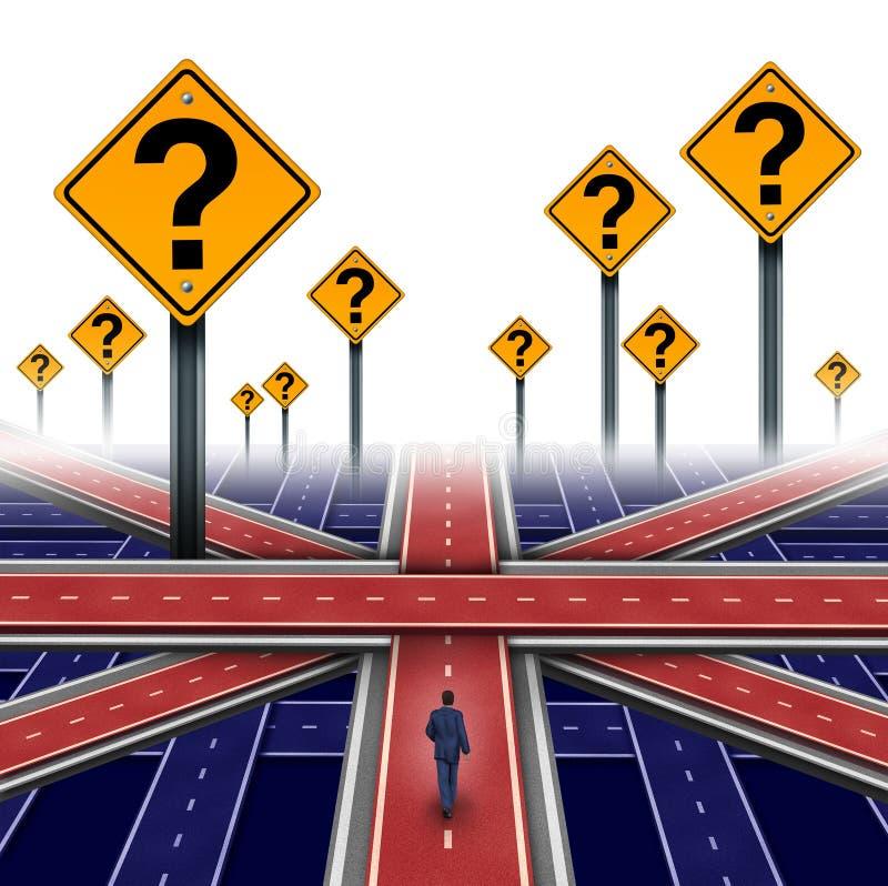 La politique européenne britannique illustration libre de droits