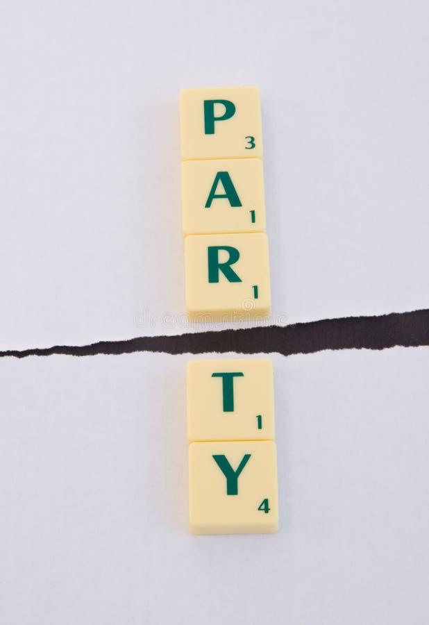 La politique : Fractionnement de réception. images stock