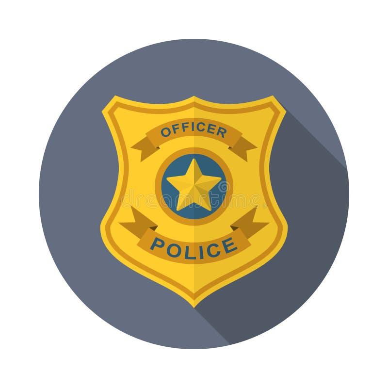 La polizia badge l'icona illustrazione di stock