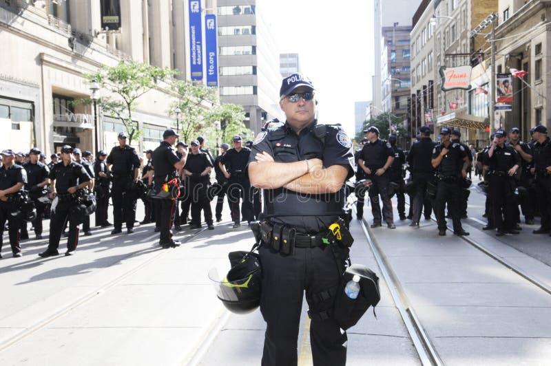 La polizia barrica. immagine stock
