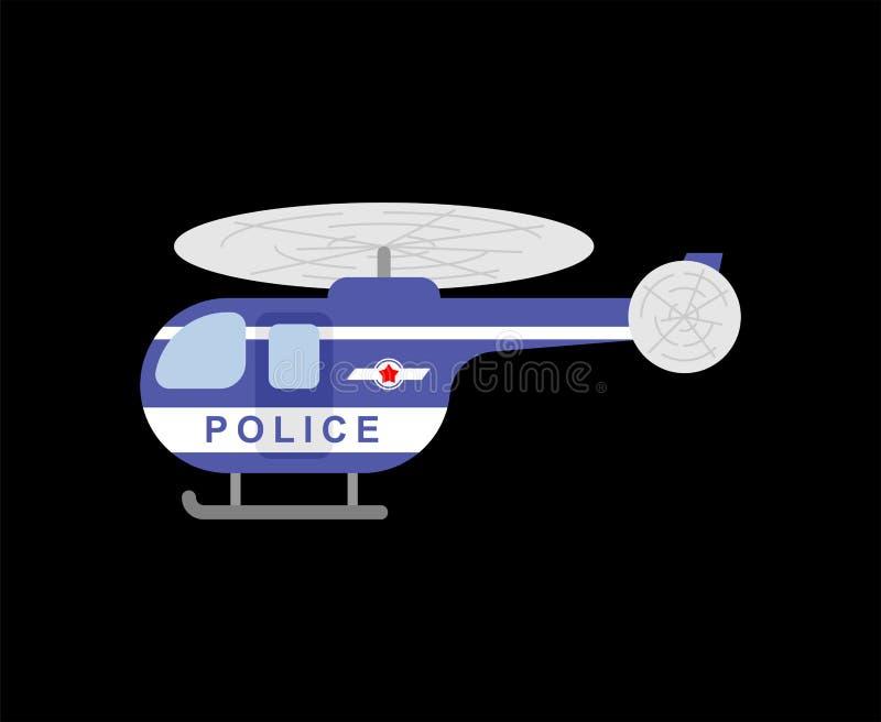 La polizia dell'elicottero ha isolato Trasporto di Chopper Flying del poliziotto con PR royalty illustrazione gratis