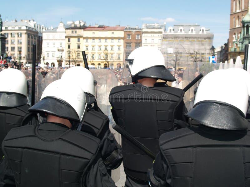 La polizia di tumulto ad amore sfila fotografia stock libera da diritti