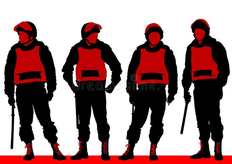 La polizia equipaggia illustrazione di stock
