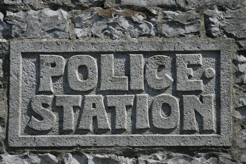 La polizia firma fotografia stock libera da diritti