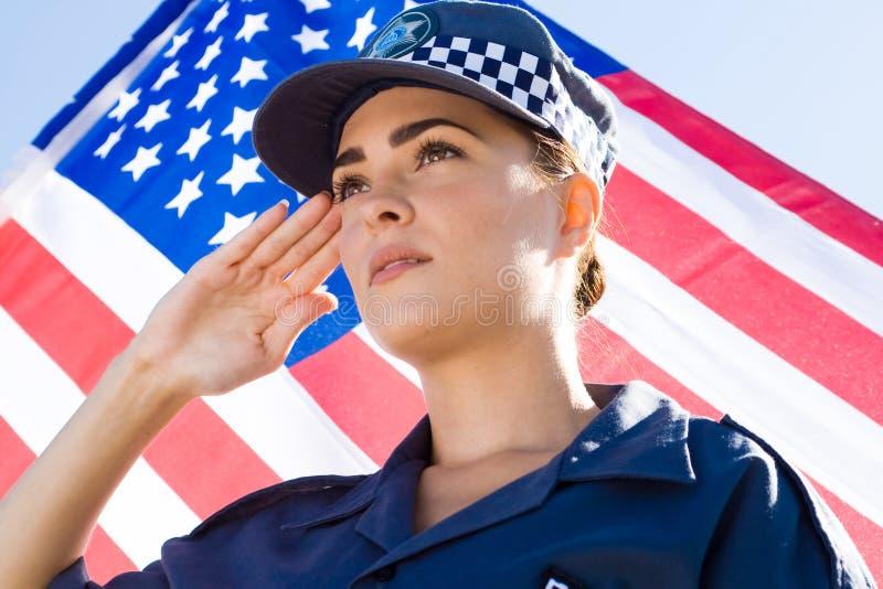 La polizia saluta fotografia stock libera da diritti