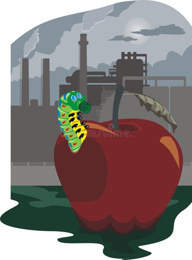 La pollution de l'ambiant illustration stock