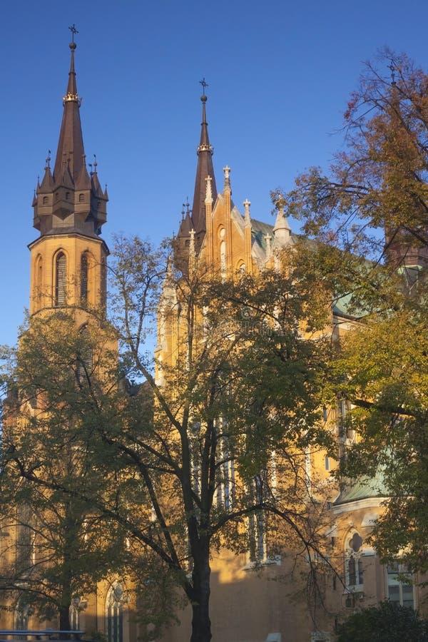 La Pologne, Radom, cathédrale ensoleillée pendant l'après-midi image libre de droits