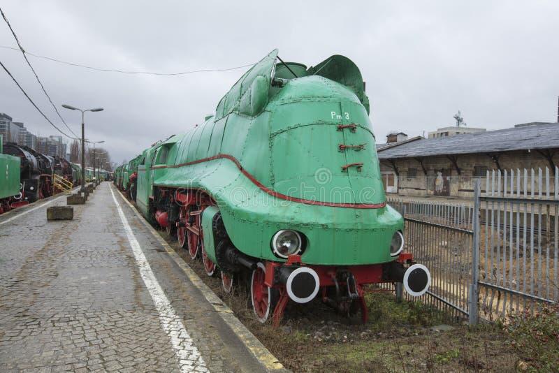 La Pologne, Varsovie, l'Europe, décembre 2018, musée ferroviaire polonais à l'ancienne station de Glowna photographie stock