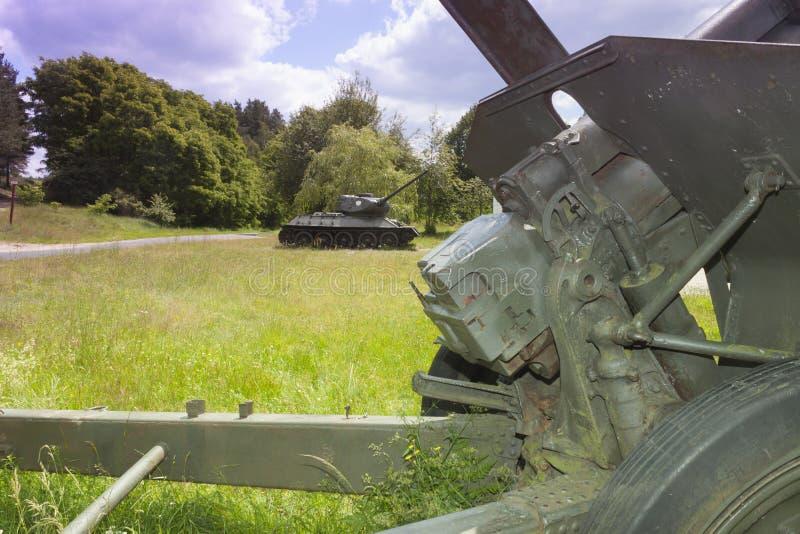 La Pologne, Zachodniopomorskie, Zdbice, air ouvert Museu de vitesse militaire photo stock