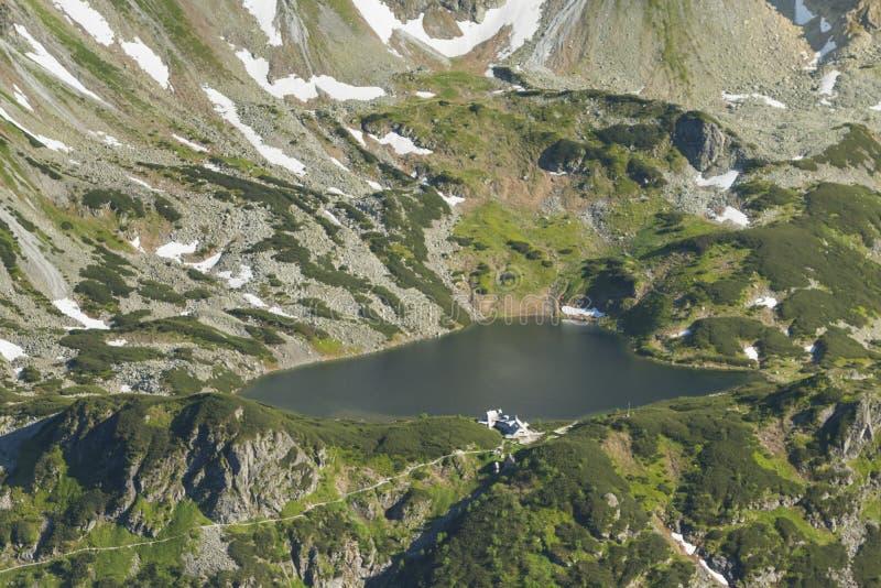 La Polonia, montagne di Tatra, ³ w, capanna di Dolina PiÄ™ciu Stawà della montagna immagini stock libere da diritti
