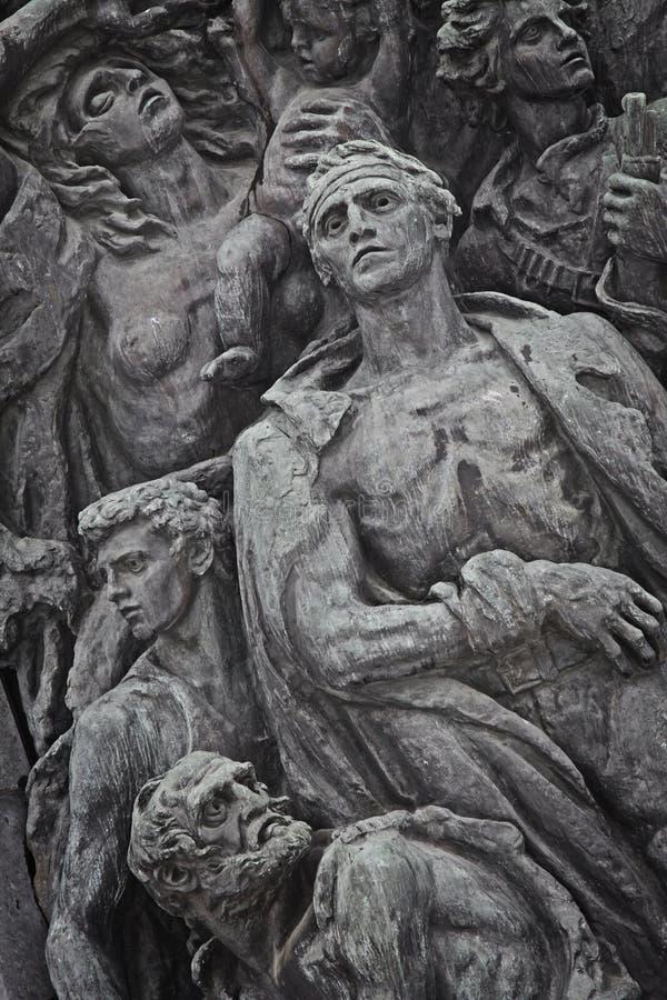 La Polonia: Monumento ebreo della rivolta del ghetto fotografie stock libere da diritti