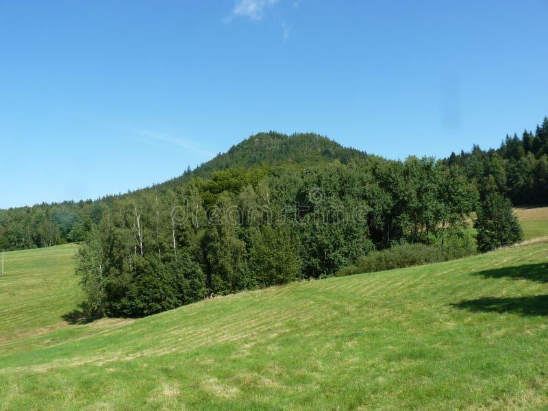 La Polonia, Rudawy Janowickie - la montagna del Ra del ³ del Na GÃ del ¼ di KrzyÅ in montagne di Rudawy Janowickie fotografie stock libere da diritti