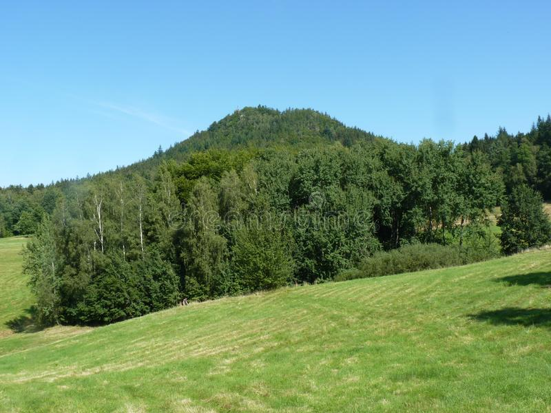 La Polonia, Rudawy Janowickie - la montagna del Ra del ³ del Na GÃ del ¼ di KrzyÅ immagine stock