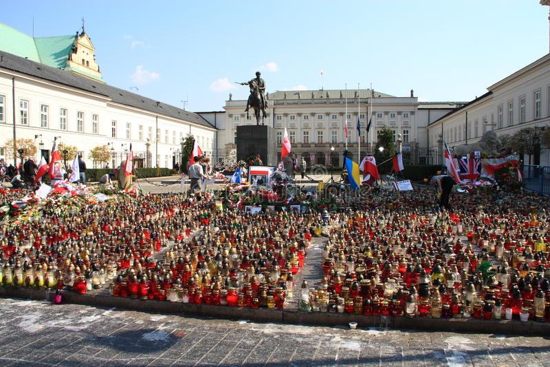La Polonia si addolora. fotografia stock