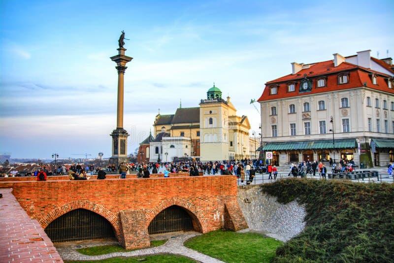 La Polonia, Varsavia, 2018-03-28, bella vecchia citt? storica Vecchia città Varsavia di vista immagine stock