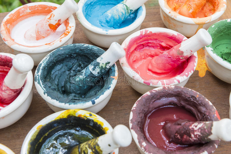 La polvere di colore fotografie stock libere da diritti