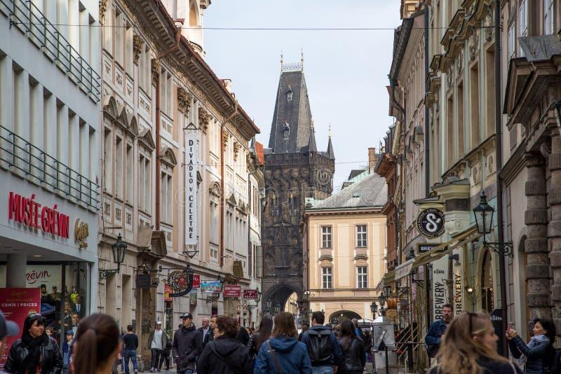 La polvere Towr a Praga fotografia stock