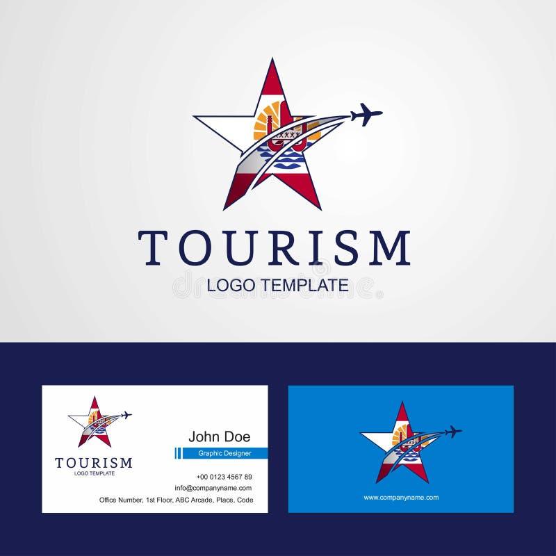 La Polynésie française de voyage marque la voiture créative de logo et d'affaires d'étoile illustration stock